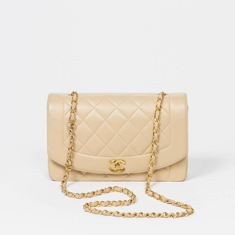 Chanel Vintage Mademoiselle Flap Beige Quilted Leather 7