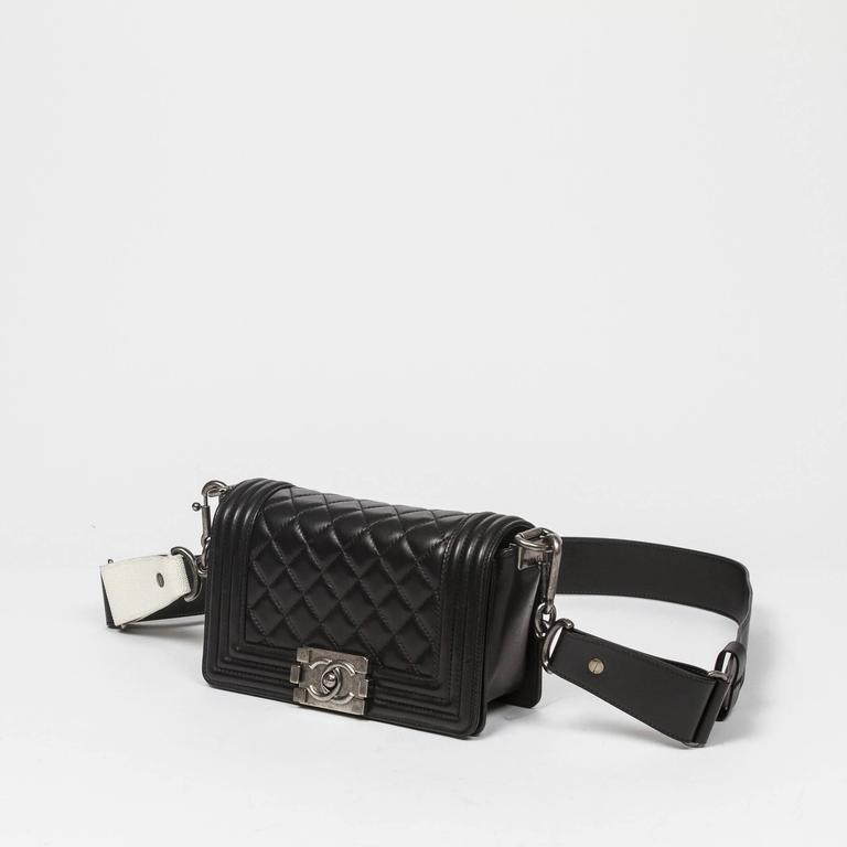 Chanel - Mini Boy Black Quilted Leather 2