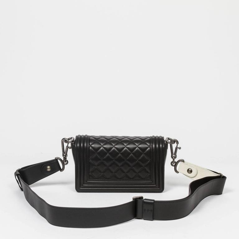 Chanel - Mini Boy Black Quilted Leather 5