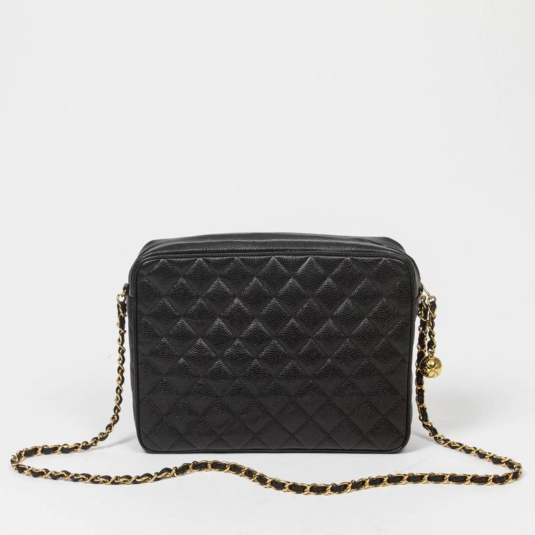 Chanel - Vintage Shoulder Bag Black Quilted Caviar 5