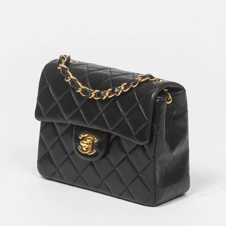 Chanel - Classic Mini Flap Black Quilted Leather 2