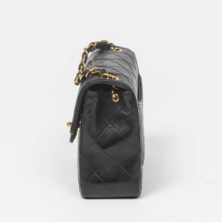 Chanel - Classic Mini Flap Black Quilted Leather 3