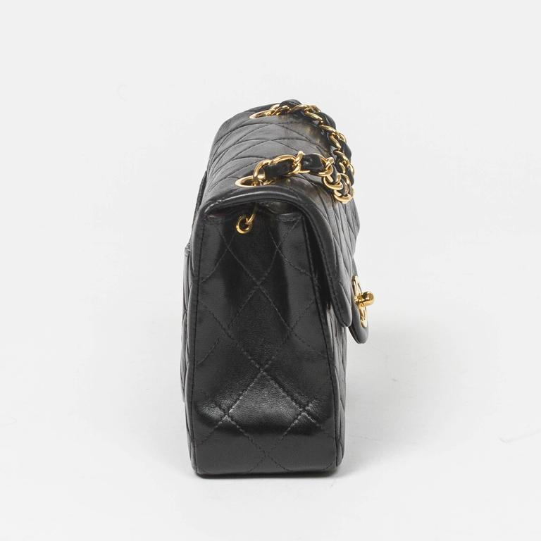 Chanel - Classic Mini Flap Black Quilted Leather 4