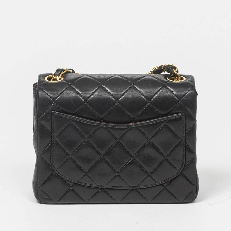 Chanel - Classic Mini Flap Black Quilted Leather 5