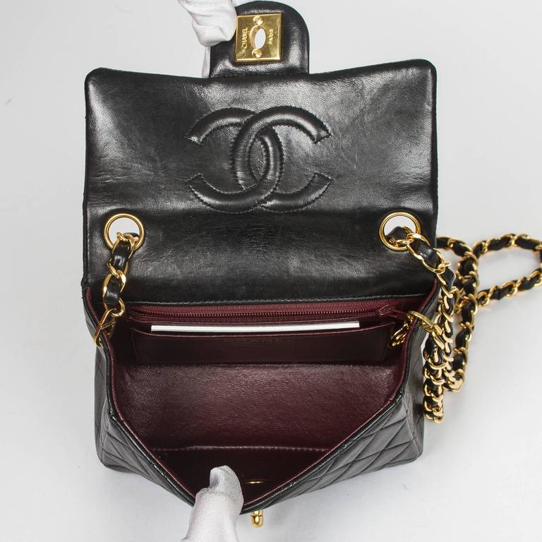 Chanel - Classic Mini Flap Black Quilted Leather 6