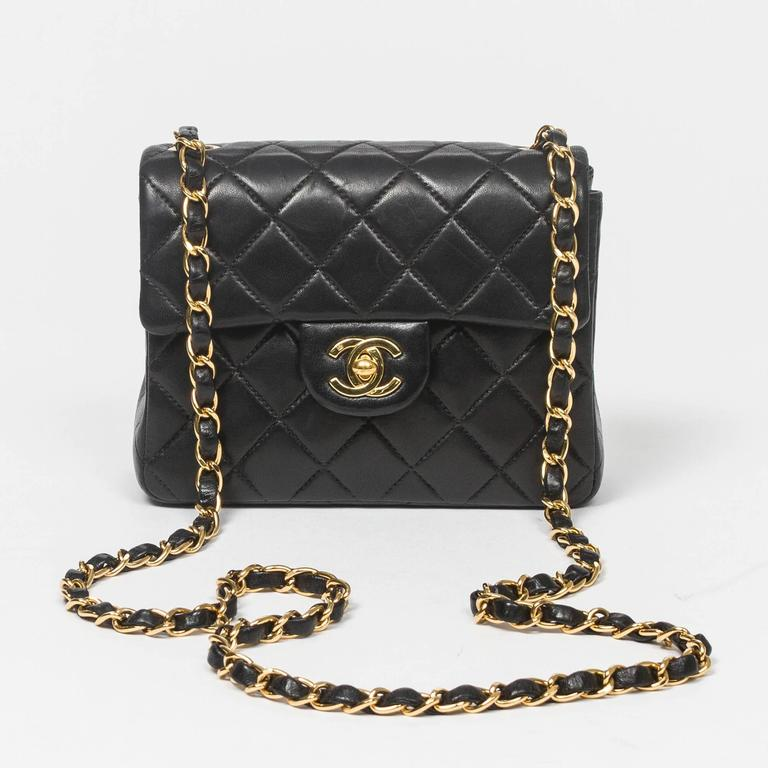 Chanel - Classic Mini Flap Black Quilted Leather 7