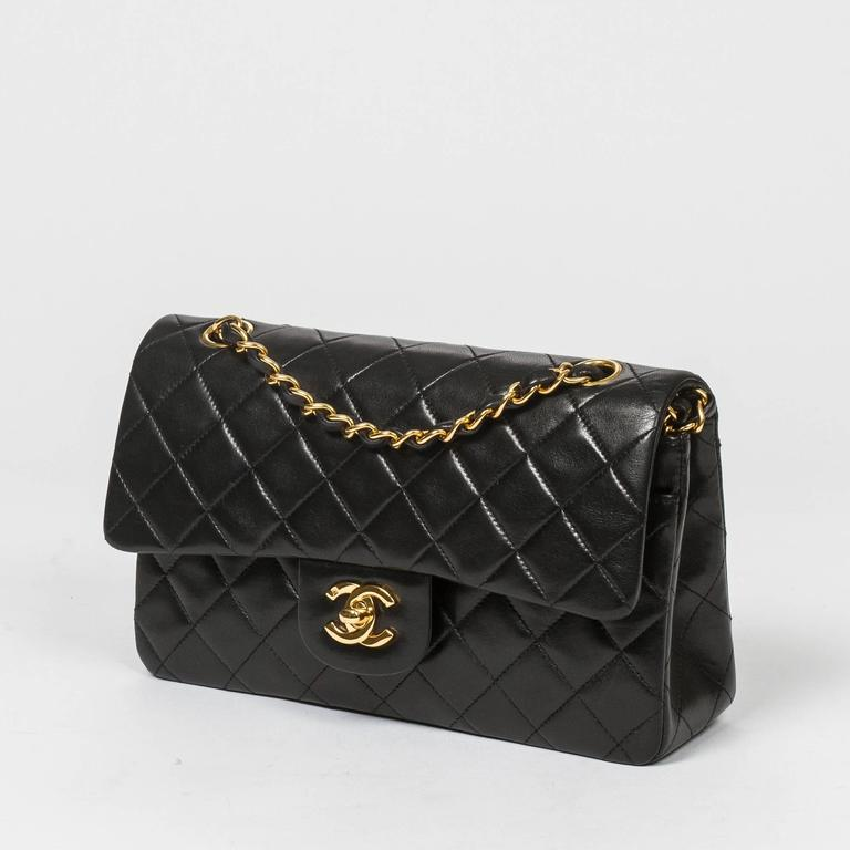 Chanel Classic Double Flap 23 Black Quilted Leather 2