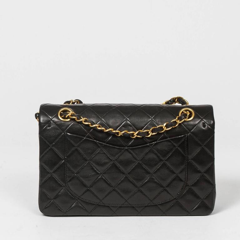 Chanel Classic Double Flap 23 Black Quilted Leather 5