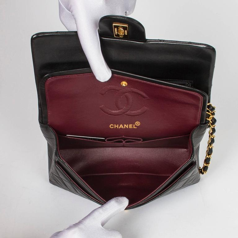 Chanel Classic Double Flap 23 Black Quilted Leather 6