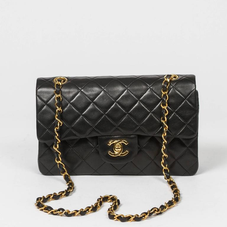 Chanel Classic Double Flap 23 Black Quilted Leather 7