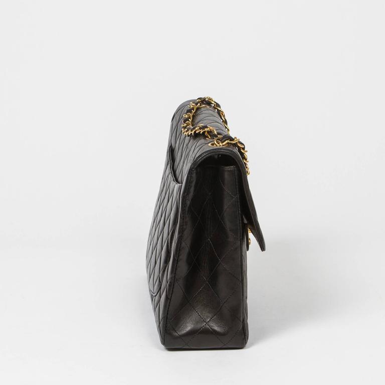 Women's Chanel Jumbo Black Leather For Sale