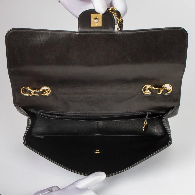 Chanel Jumbo Black Leather For Sale 2