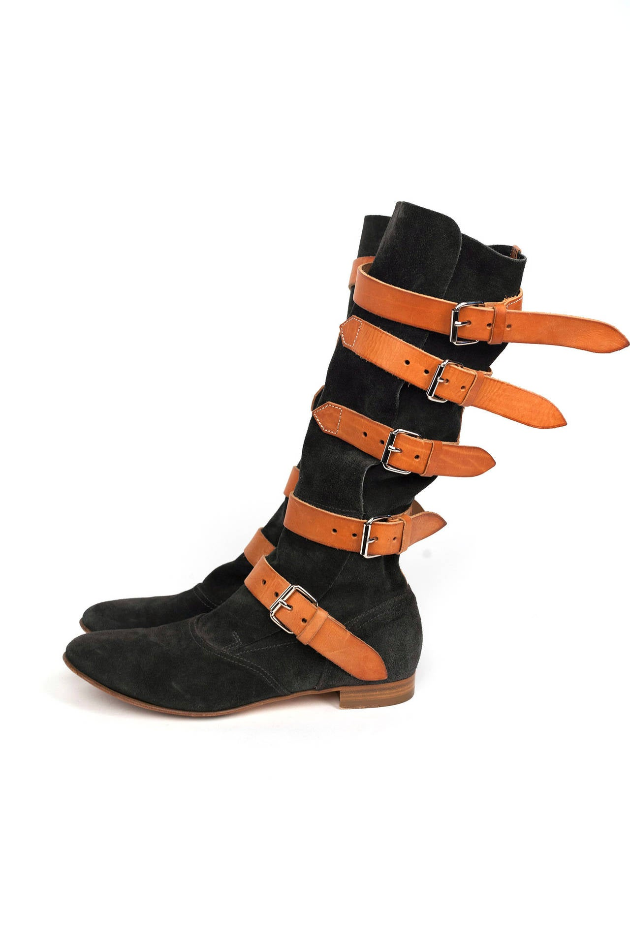 vivienne westwood limited edition suede pirate boots at