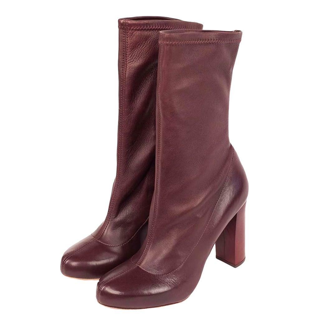 antiflex stretch leather boots at 1stdibs