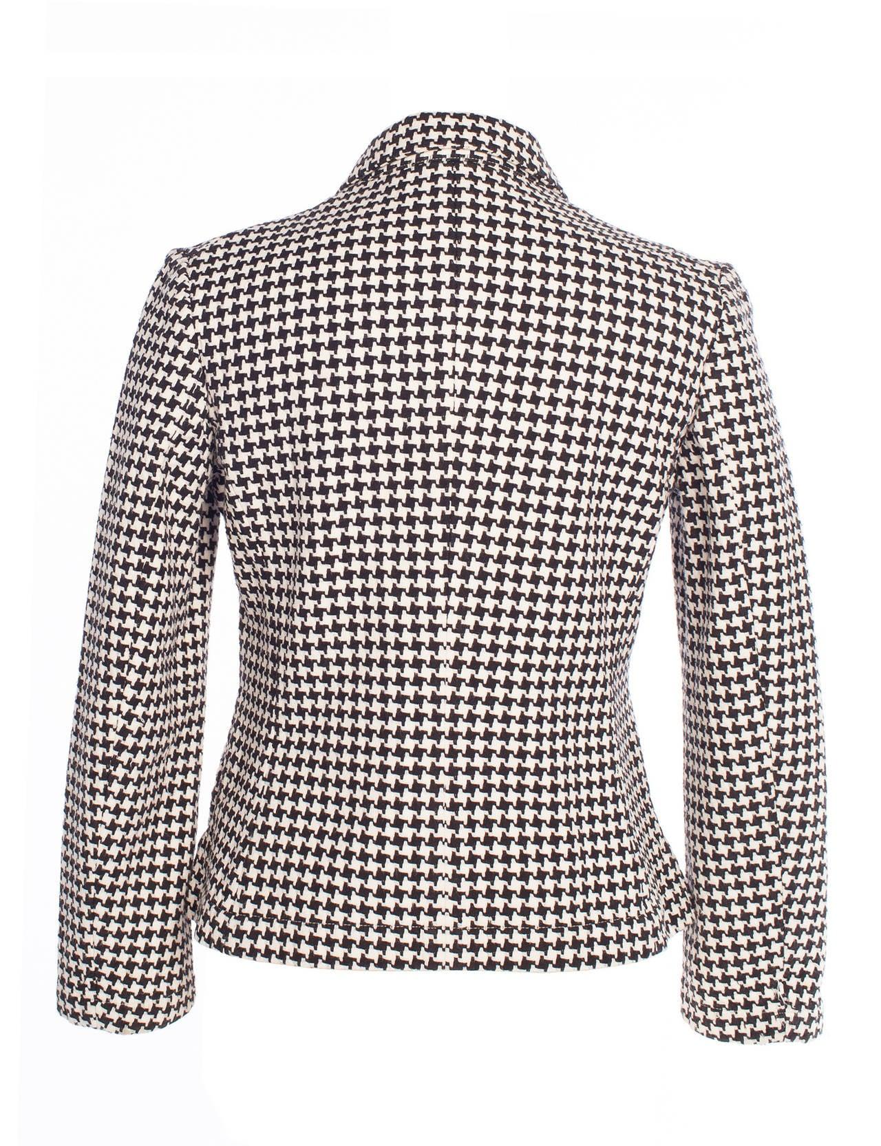 Comme des Garcons *Robe de Chambre* houndstooth printed blazer, Sz. M ...