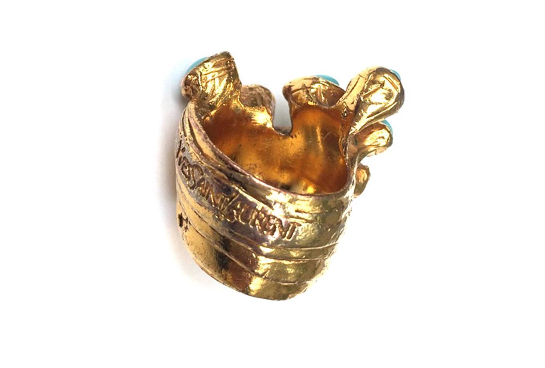 yves saint laurent by stefano pilati gold ring w. Black Bedroom Furniture Sets. Home Design Ideas