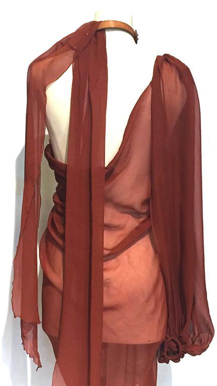 Lanvin spring 2011 one shoulder silk dress with leather ...