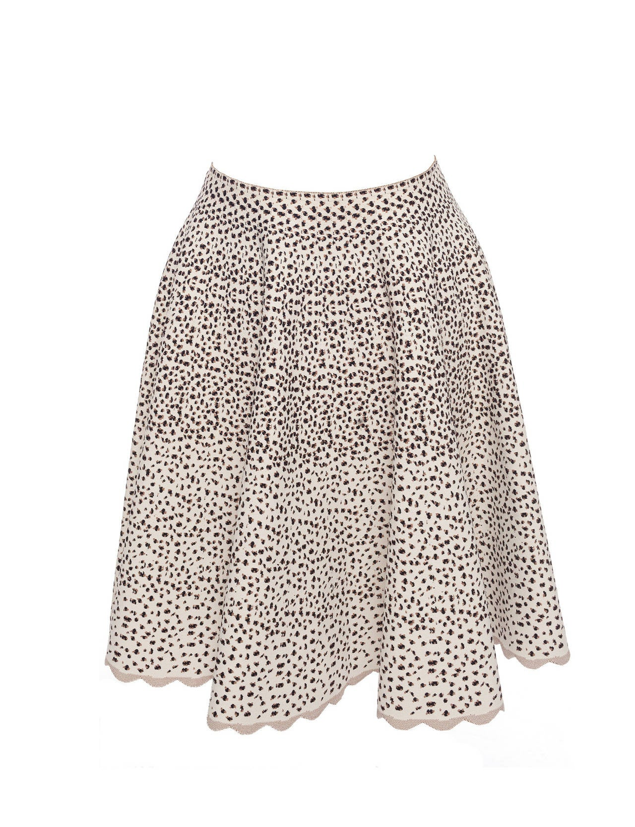 90s Alaia Paris aline knitted cheetah pattern skirt, Sz. M at 1stdibs