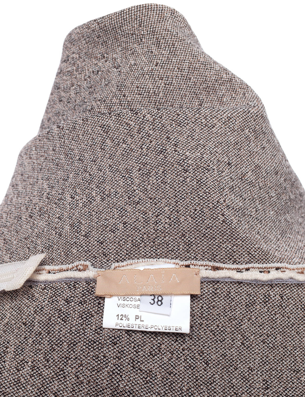 Knitted Shirt Pattern : 90s Alaia Paris aline knitted cheetah pattern skirt, Sz. M at 1stdibs