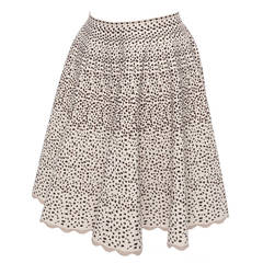 90s Alaia Paris aline knitted cheetah pattern skirt, Sz. M