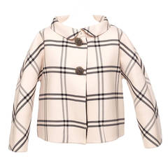 Balenciaga by Nicolas Ghesquiere striped couture evening jacket, Sz. S