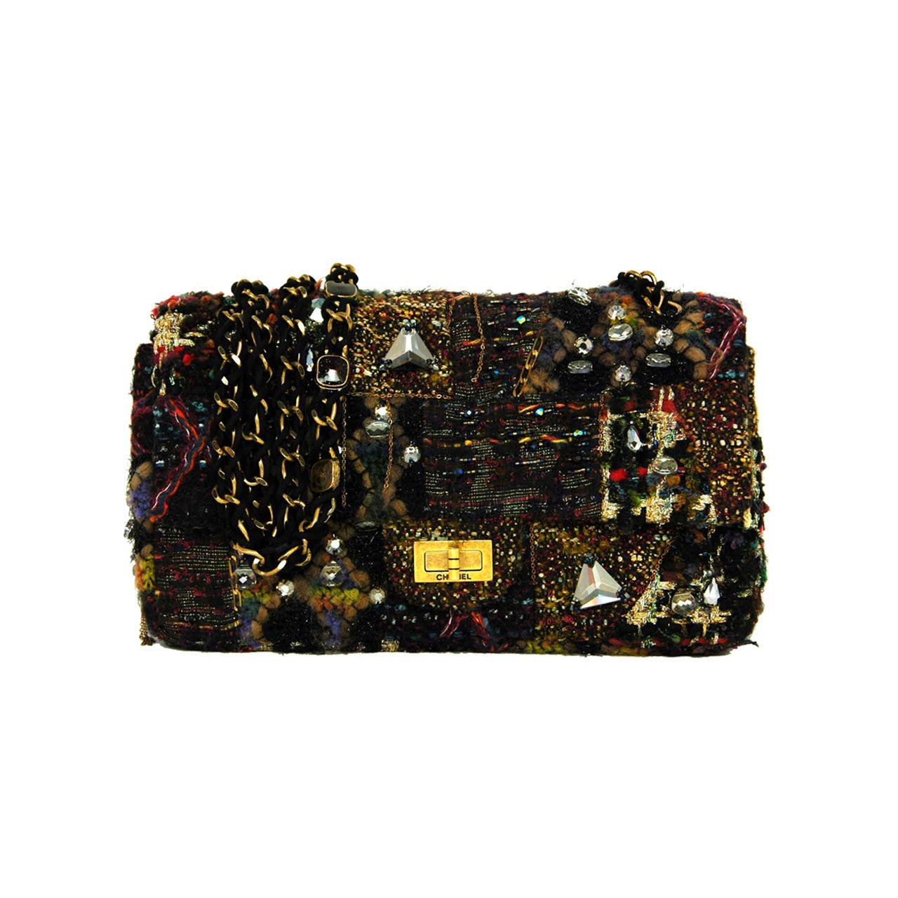 CHANEL Paris Byzance Limited Edition Lesage Tweed Jewel Encrusted Flap Bag  at 1stdibs d6f09425b19c1