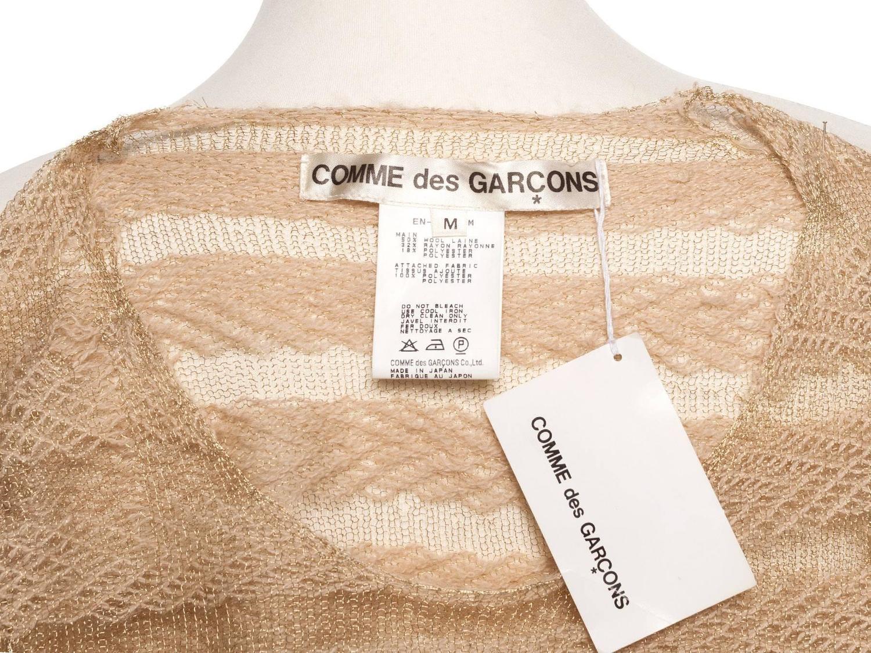 39 97 comme des garcons vintage gold and sand striped pullover sz m at 1stdibs. Black Bedroom Furniture Sets. Home Design Ideas