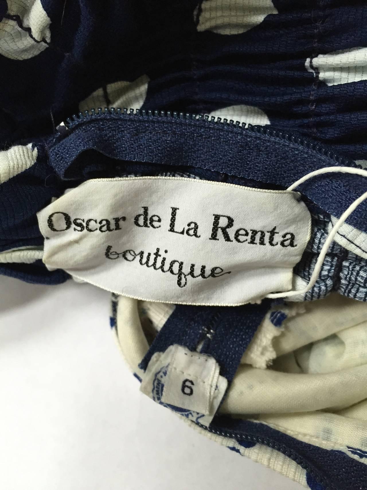 Oscar de la Renta 1970 polka dot Harper's Bazaar dress cover size 4. For Sale 4