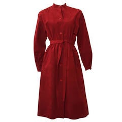 Halston 70s ultra suede dress / coat size 4/6.