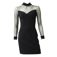 Scaasi Boutique 80s black cocktail dress size 4.