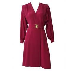 Pierre Cardin Wrap Dress With Pockets, 1980s