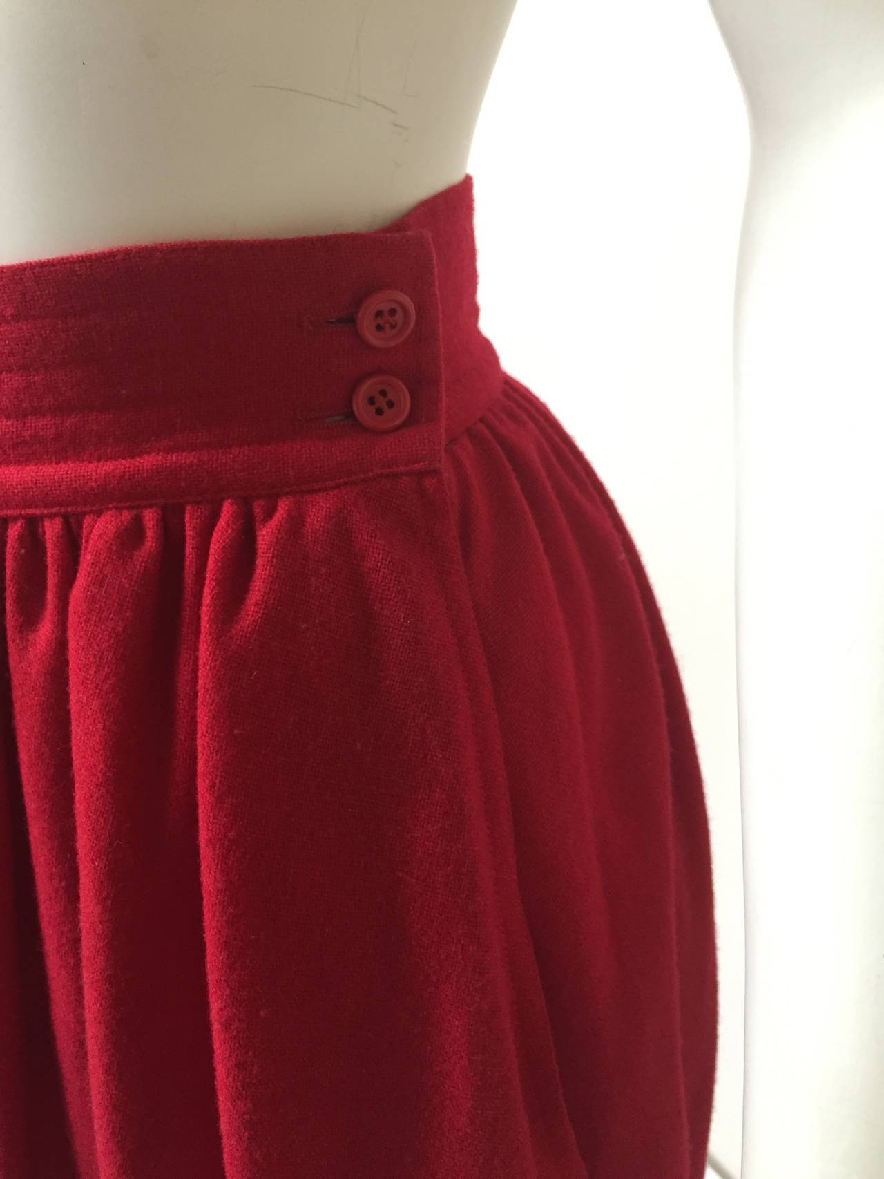 Saint Laurent Rive Gauche 70s red skirt size 4. 4