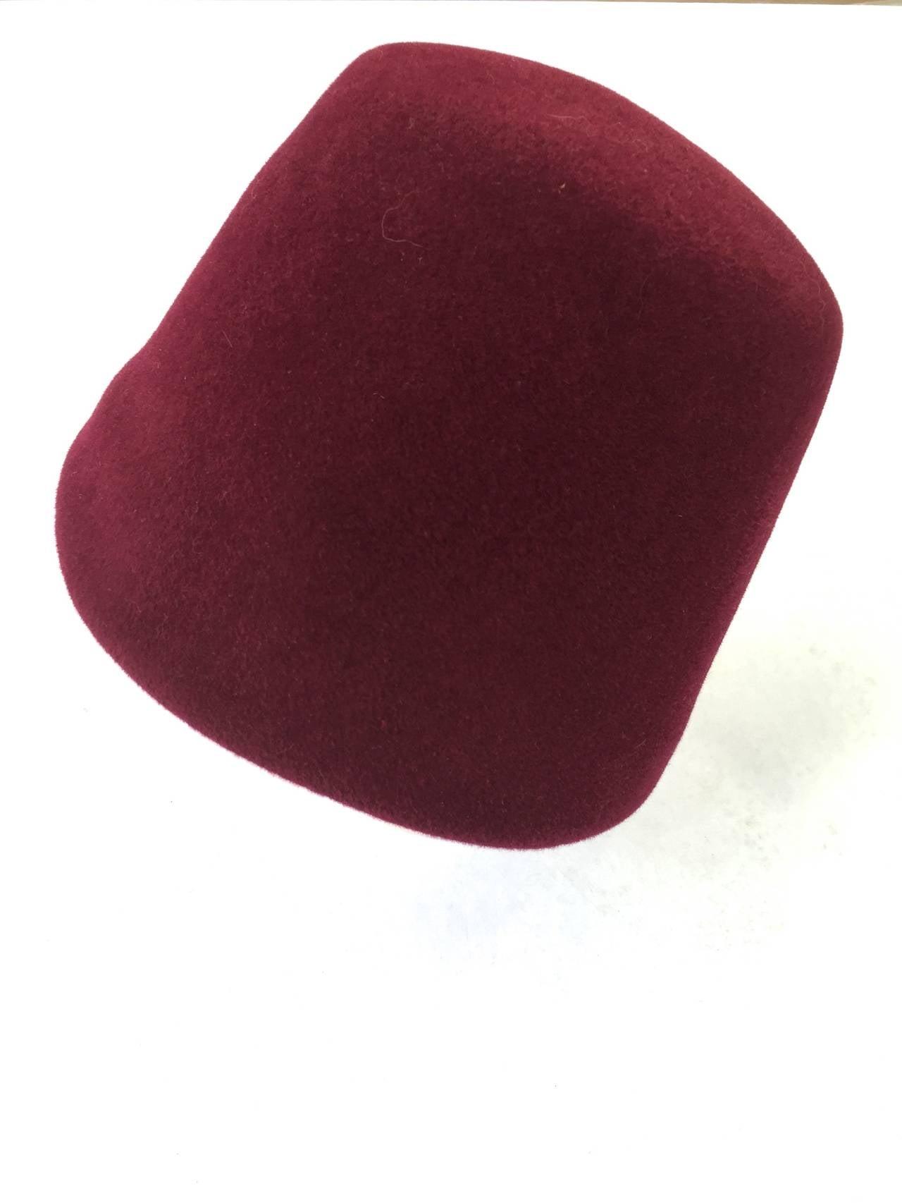 Yves Saint Laurent 70s fez hat. 3