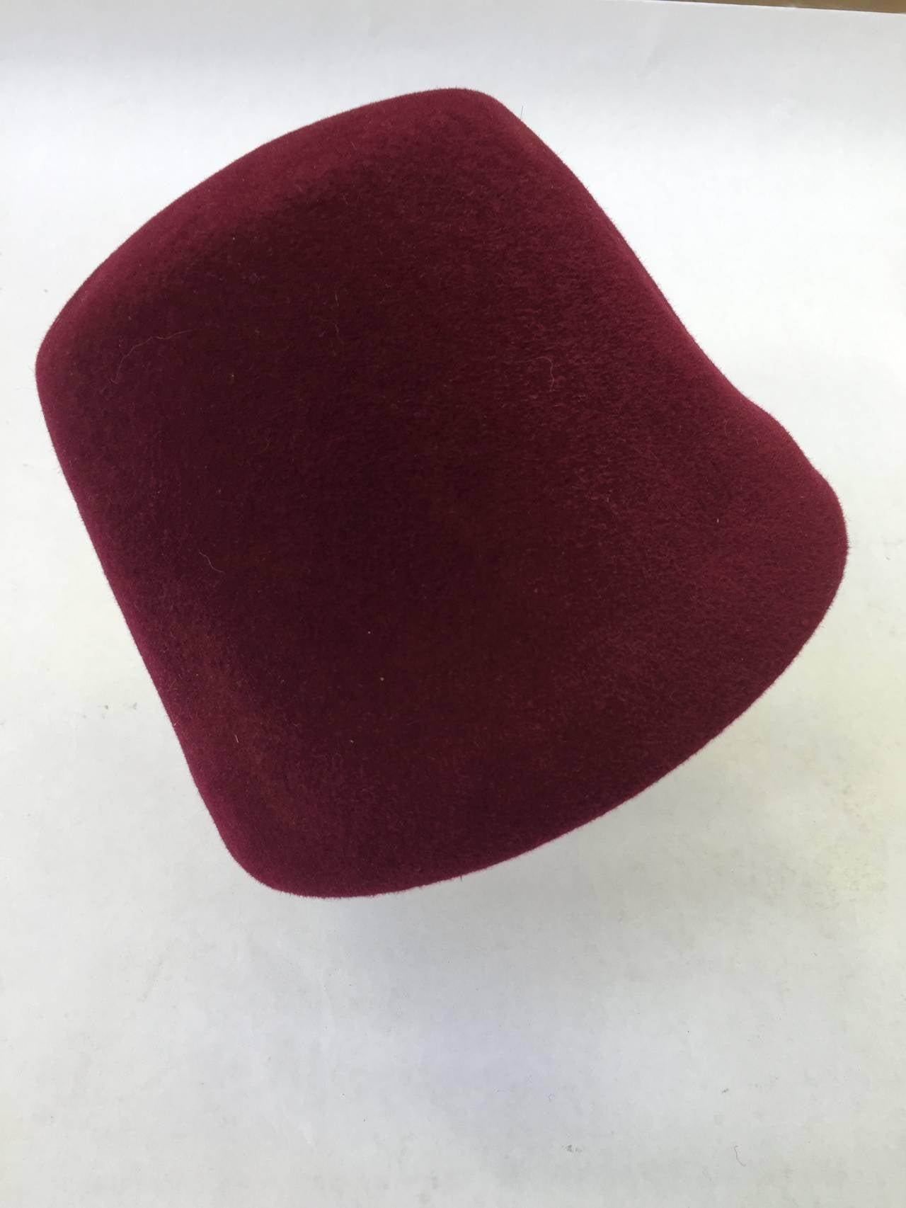 Yves Saint Laurent 70s fez hat. 4