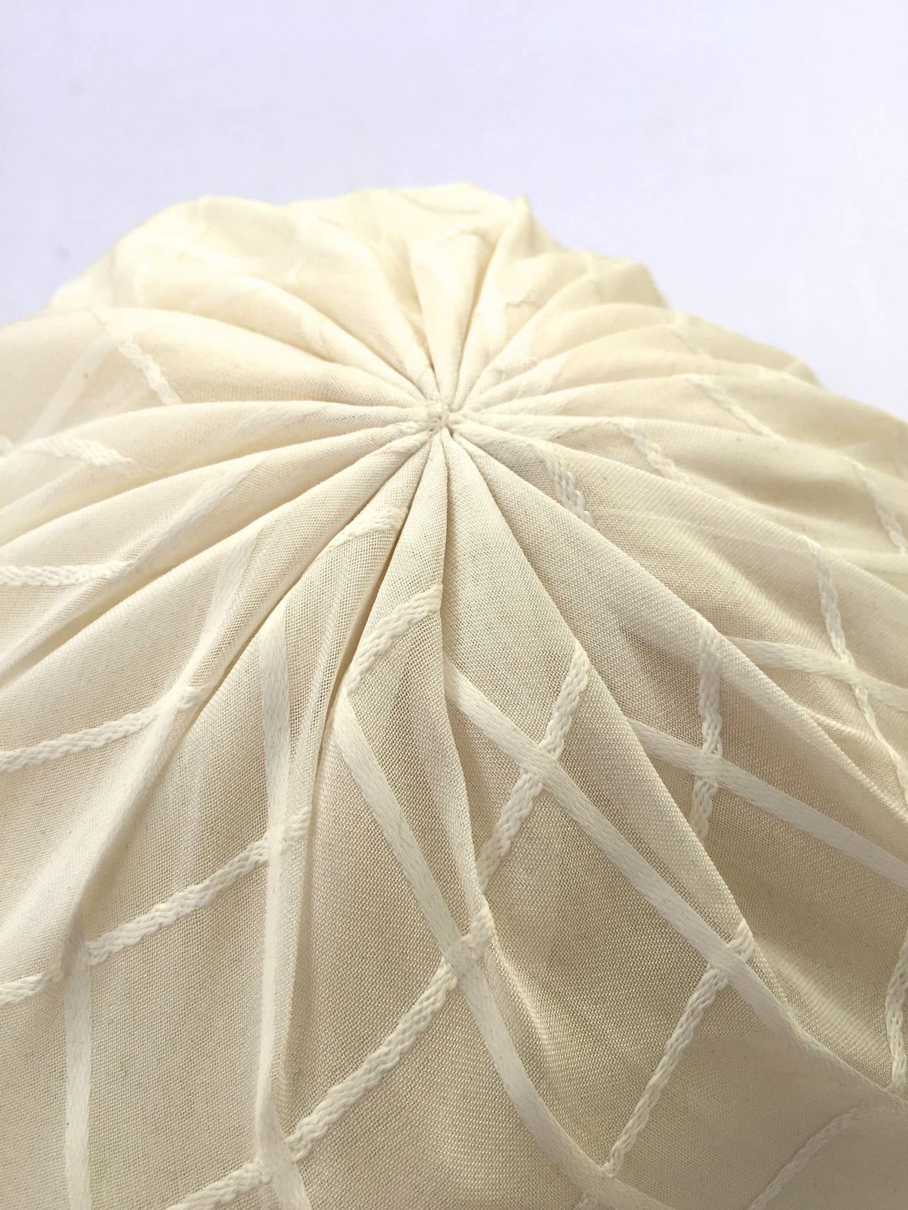 Yves Saint Laurent 60s white silk hat . 3