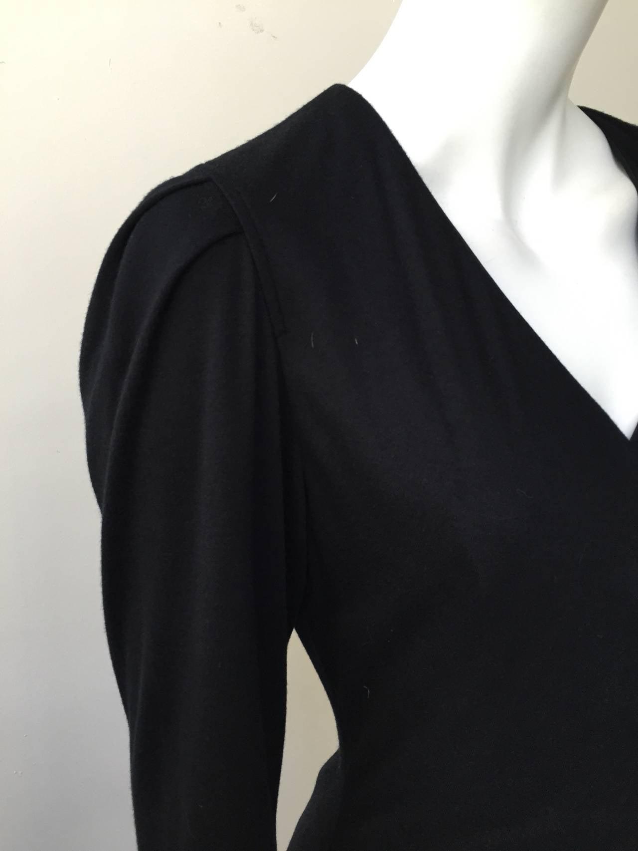 Zandra Rhodes 1980s Black with Sequin Dress Size 6. 6