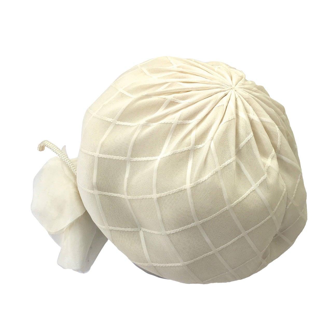 Yves Saint Laurent 60s white silk hat . 1