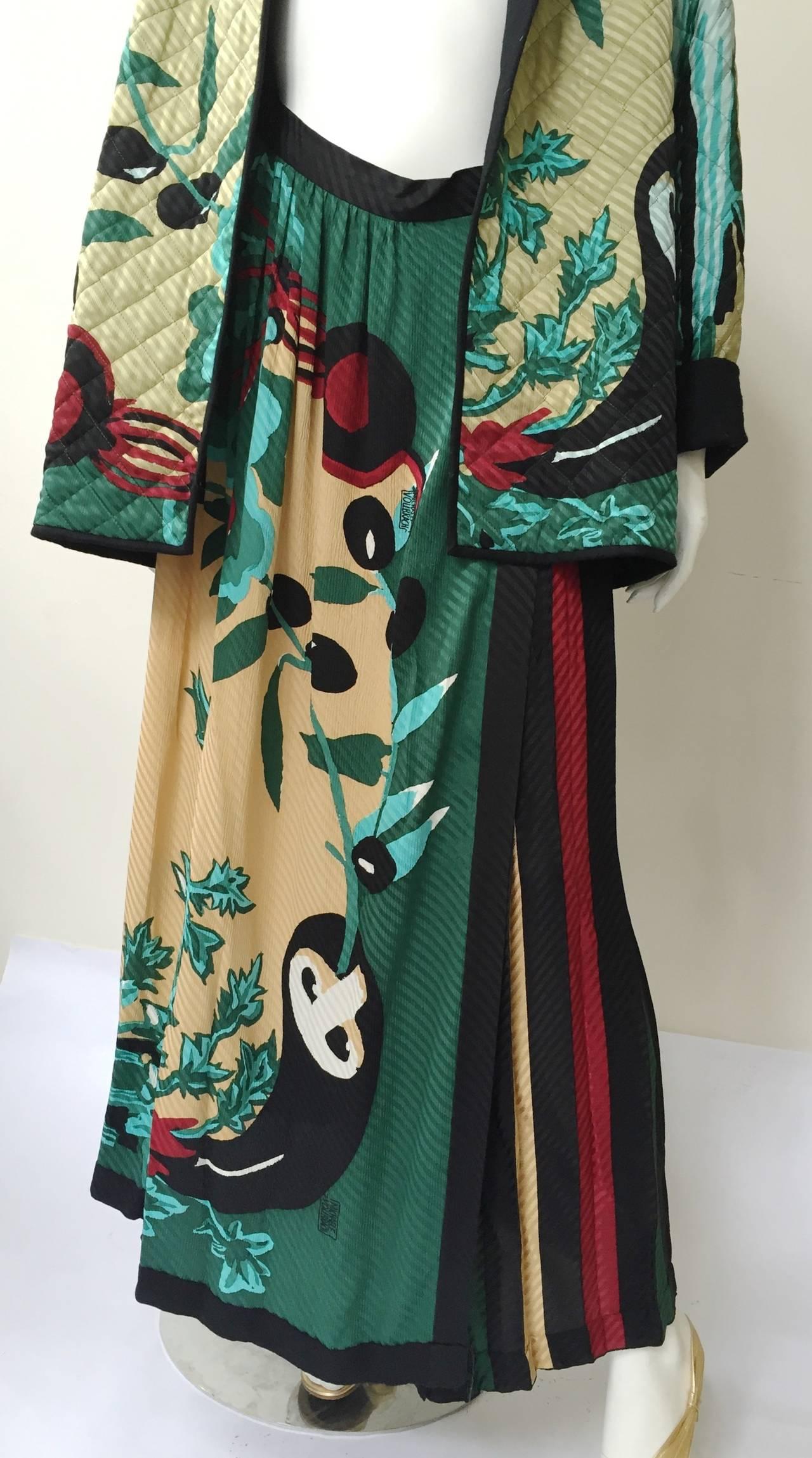 Michaele Vollbracht 80s silk quilted jacket & skirt size 6. 3