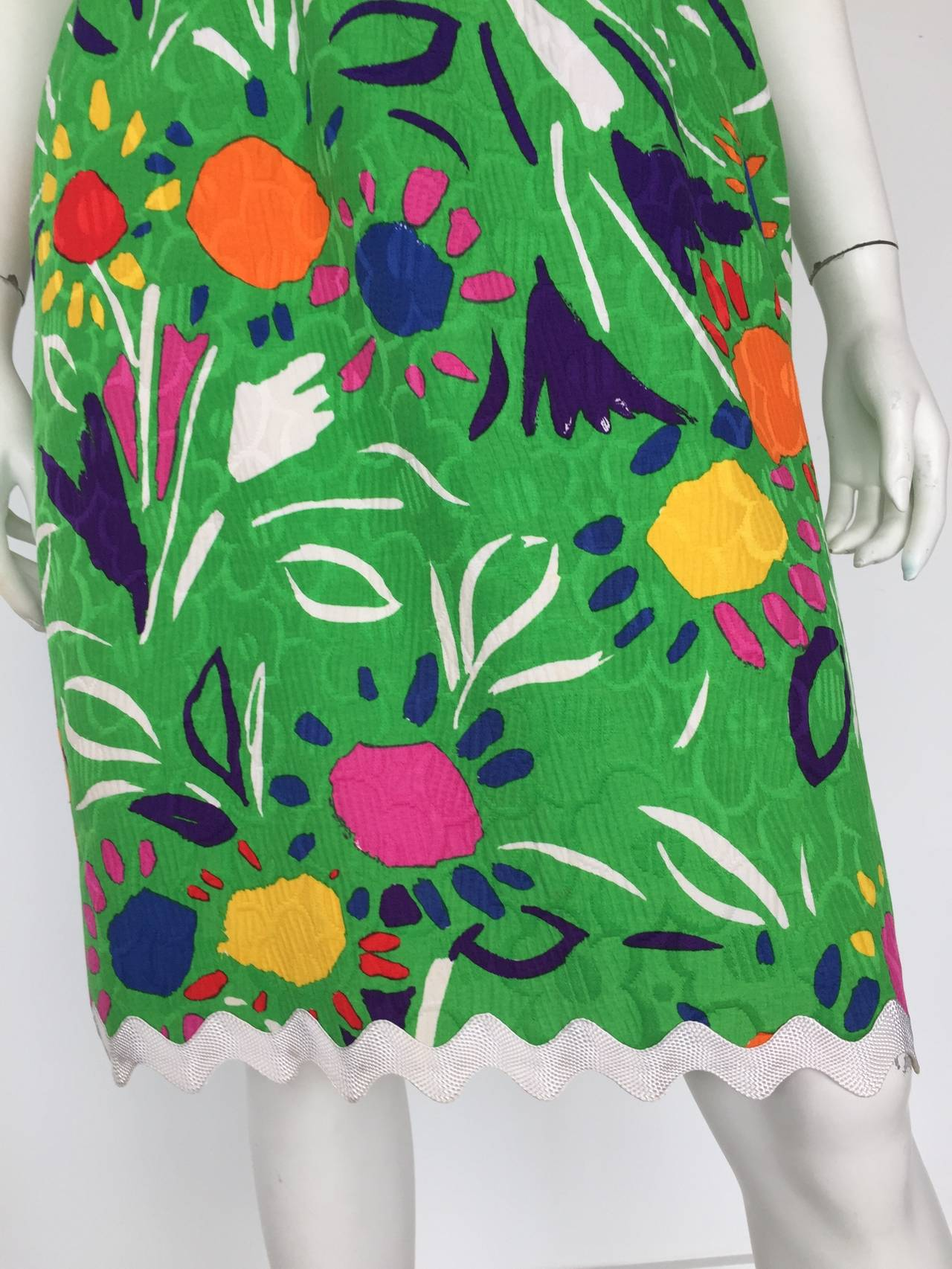 Women's Bill Blass Sleeveless Cotton Dress Size 10. For Sale