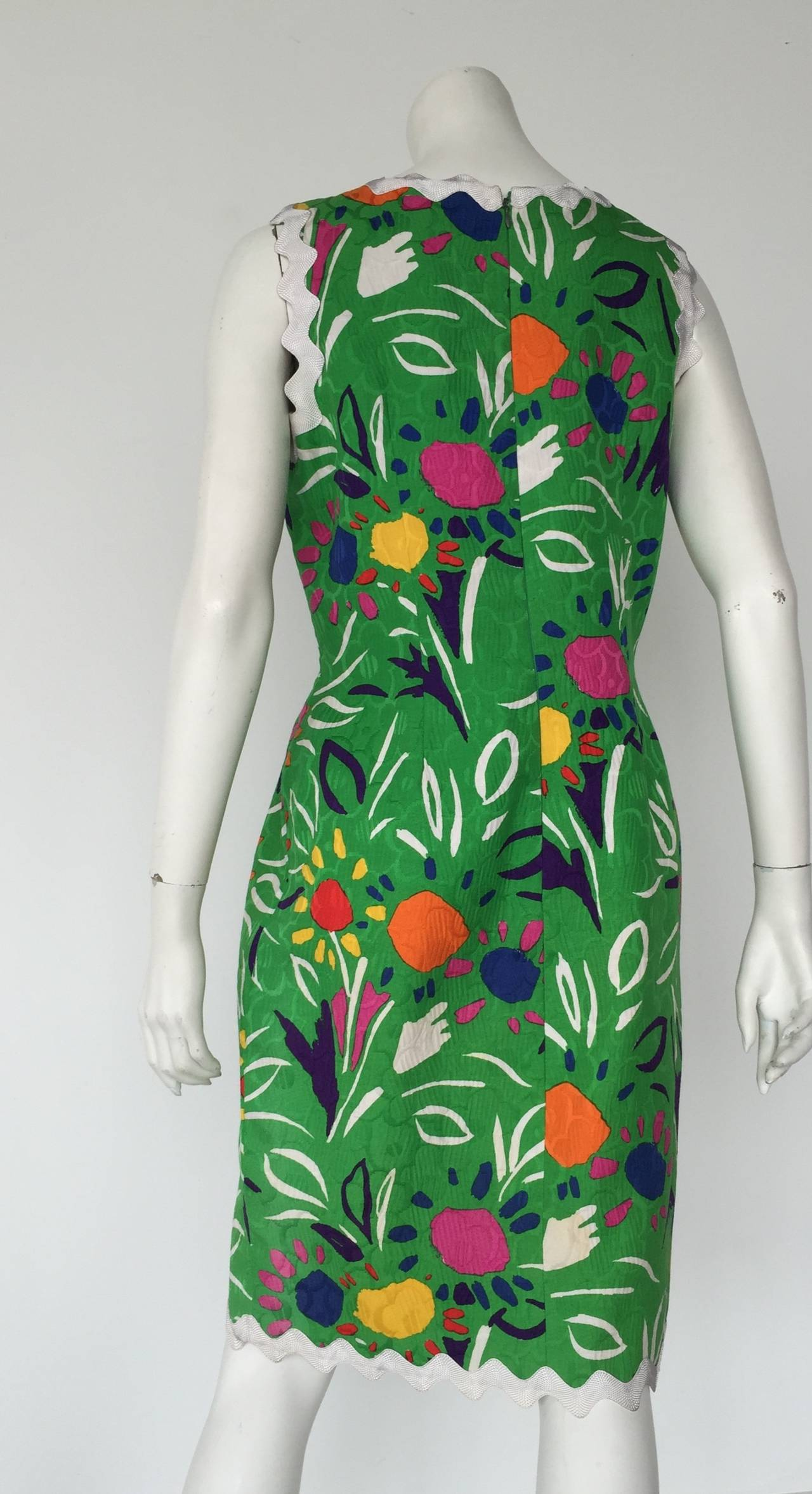 Bill Blass Sleeveless Cotton Dress Size 10. For Sale 2
