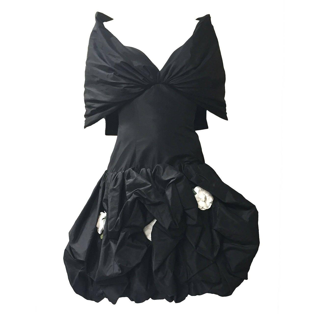 Bill Blass 1980s Strapless Evening Dress Size 6.