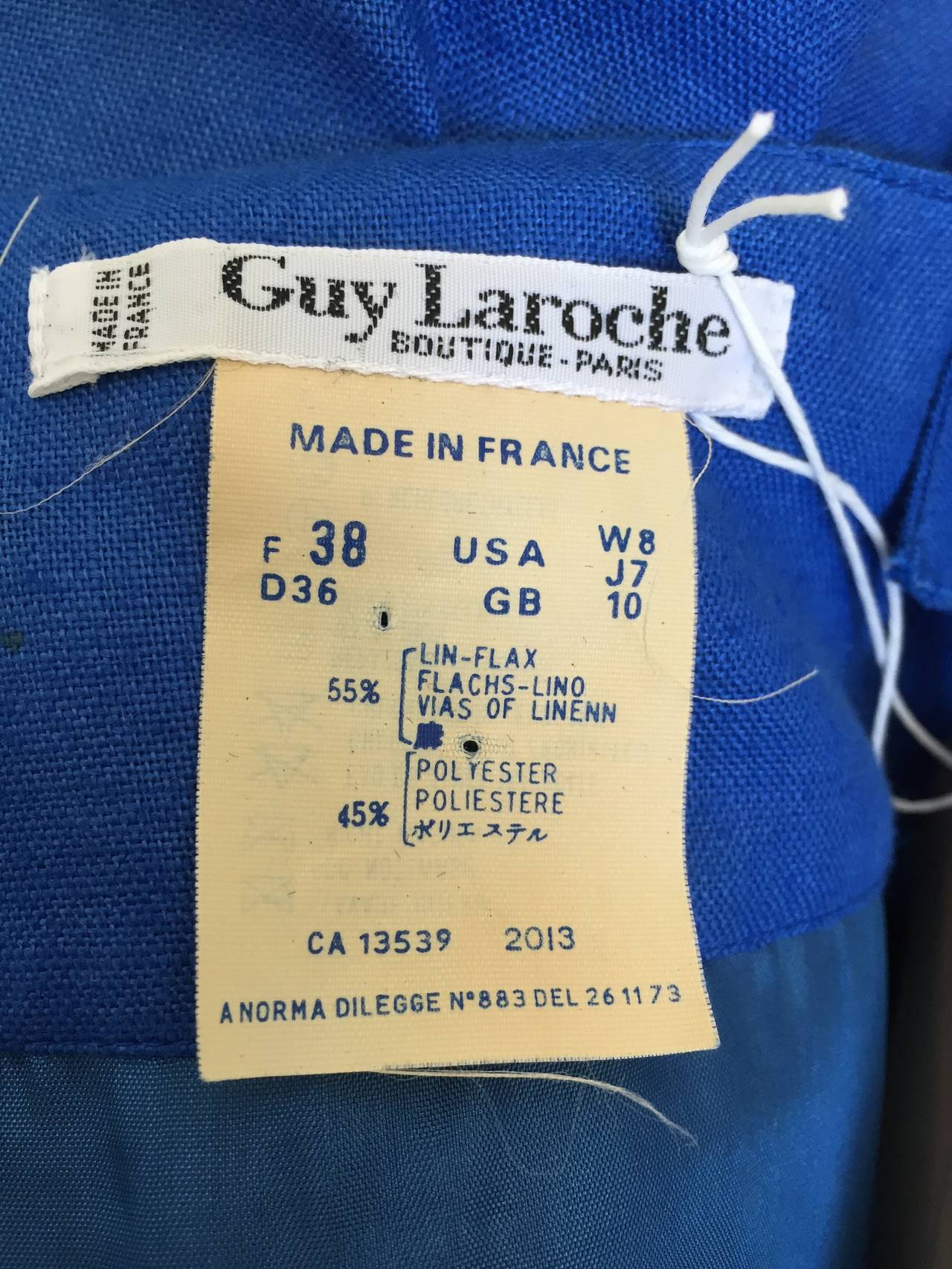 Guy Laroche Paris 80s blue dress with pockets size 6. 10