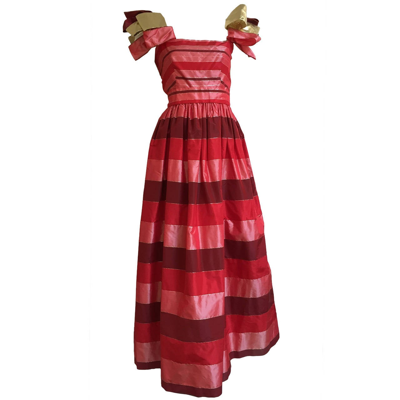 Richilene  70s Silk Taffeta Gown Size 4.