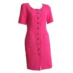 Ungaro 80s Wool Button Up Dress Size 8.