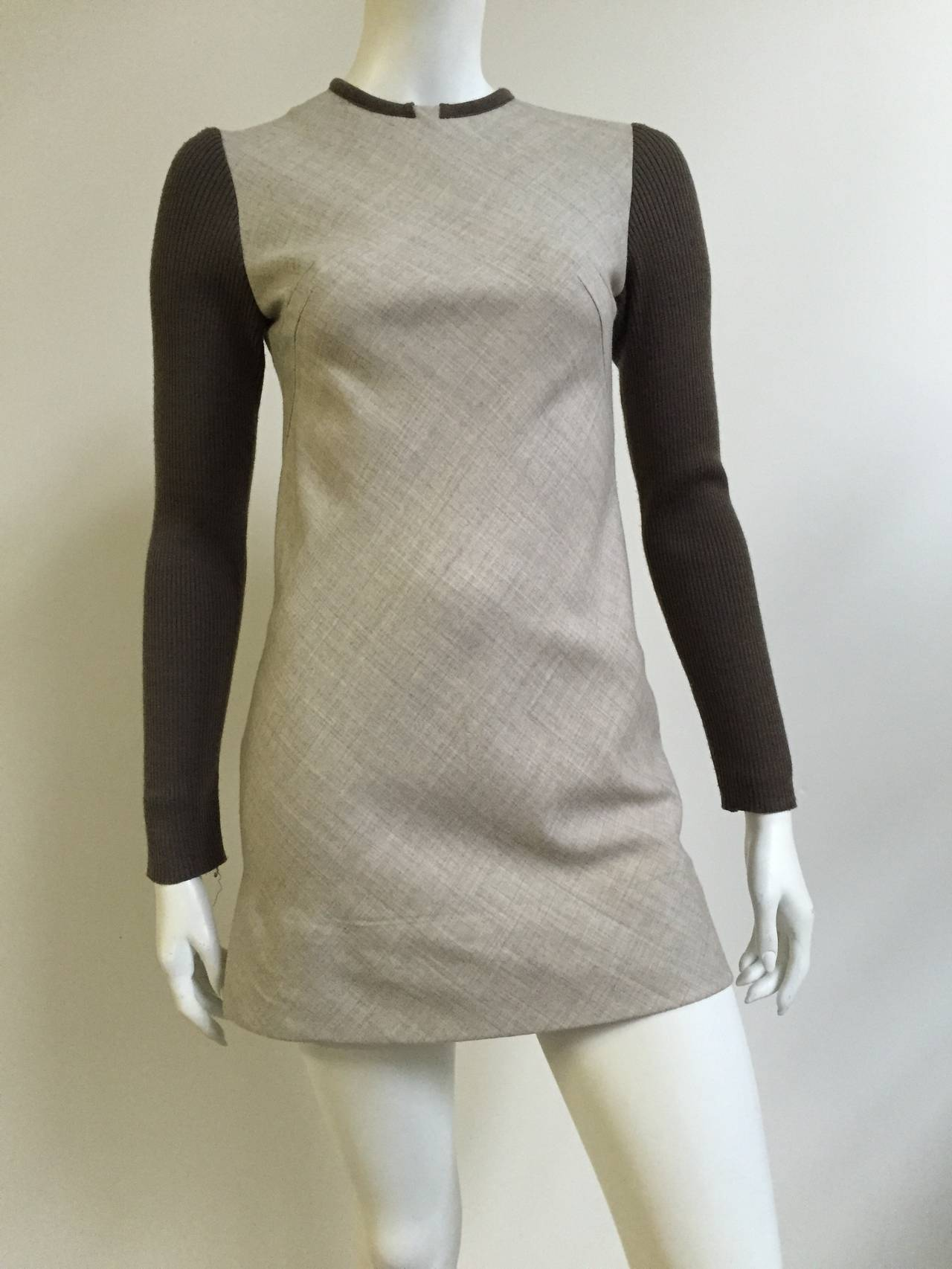 Paco Rabanne 80s Mini Wool Dress Size 4. 2