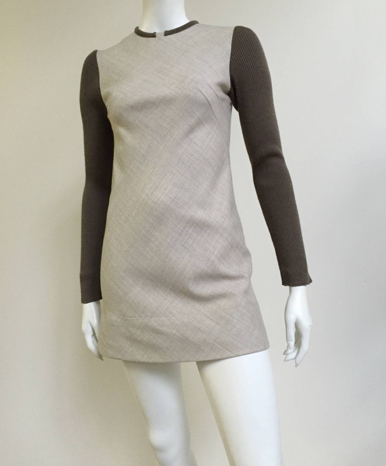 Paco Rabanne 80s Mini Wool Dress Size 4. 3
