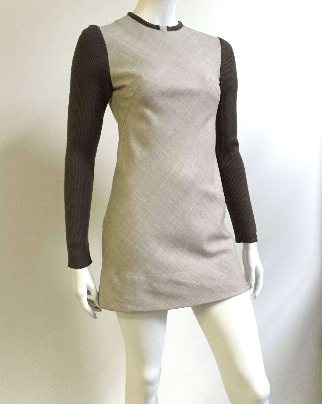 Paco Rabanne 80s Mini Wool Dress Size 4. 4