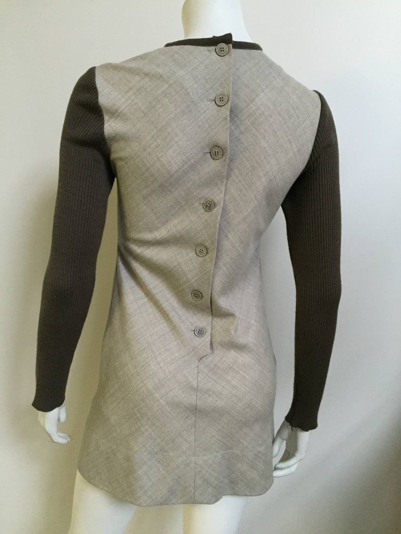 Paco Rabanne 80s Mini Wool Dress Size 4. 7