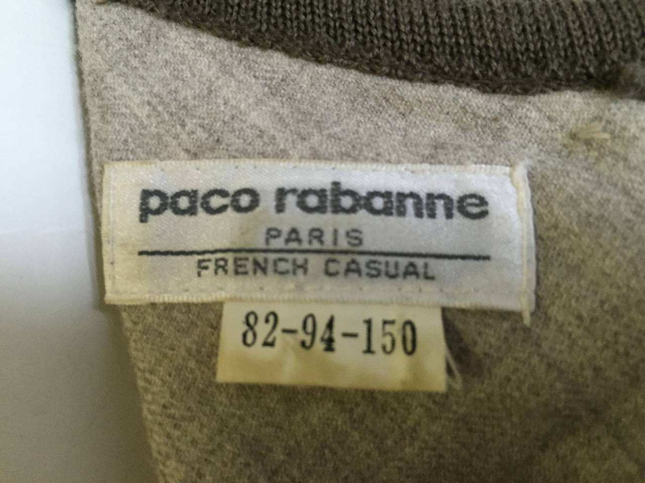 Paco Rabanne 80s Mini Wool Dress Size 4. 10
