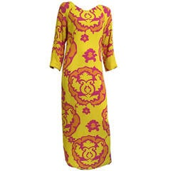 Richard Tam 70s Silk Maxi Dress Size 8.
